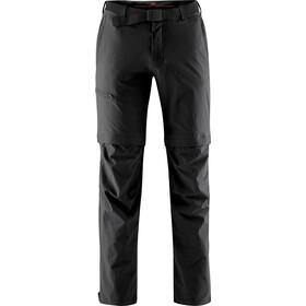 Maier Sports Tajo Pantalones Zip-Off Hombre, negro